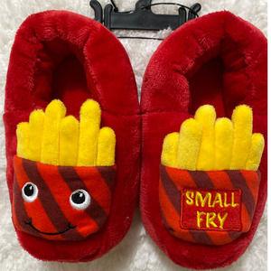 Wondernation Red French Fry Slippers NEW 11-12